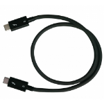QNAP CAB-TBT305M-40G-LINTES Thunderbolt cable 0.5 m Black 40 Gbit/s