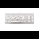 CHERRY STRAIT 3.0 keyboard USB QWERTZ German Silver,White