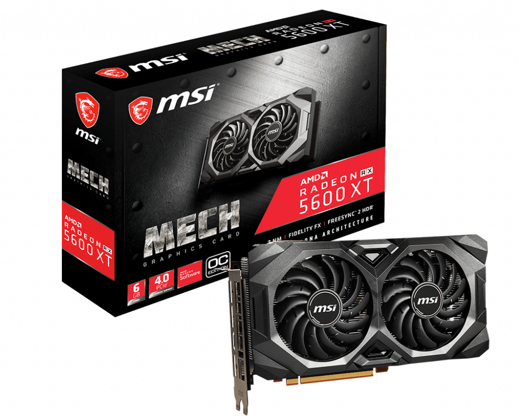 MSI V381-227R graphics card Radeon RX 5600 XT 6 GB GDDR6