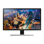 "Samsung LU28E590DS 28"" 4K Ultra HD LED Black, Silver computer monitor LED display"