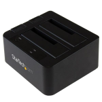 StarTech.com SDOCK2U313 USB 3.0 (3.1 Gen 2) Type micro-B Black storage drive docking station