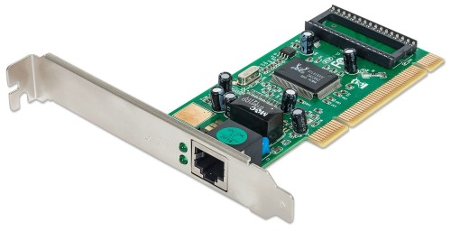 Intellinet Gigabit PCI Network Card, 32-bit 10/100/1000 Mbps Ethernet LAN PCI Card