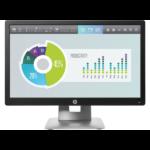 "HP EliteDisplay E202 50,8 cm (20"") 1600 x 900 Pixels HD+ LED Zwart, Zilver"