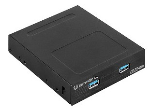 "BitFenix BFA-U3-K235-RP drive bay panel 8.89 cm (3.5"") I/O ports panel Black"