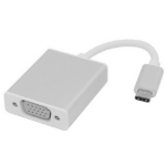 Microconnect USB3.1CVGAS 0.2m USB C VGA (D-Sub) Silver video cable adapter