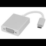 Microconnect USB3.1CVGAS 0.2m USB C VGA (D-Sub) Silver video cable adapter