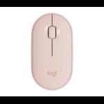 Logitech Pebble M350 mouse RF Wireless+Bluetooth Optical 1000 DPI Ambidextrous 910-005717