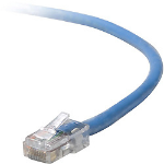 "Belkin RJ45 Cat5e Patch cable, 0.45m networking cable 17.7"" (0.45 m) U/UTP (UTP) Blue"