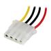 StarTech.com 12in Molex LP4 Power Extension Cable – M/F LP4POWEXT12