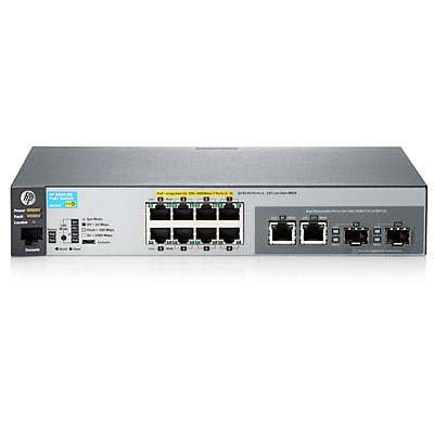 Hewlett Packard Enterprise 2530-8G-PoE+ Managed network switch L2 Gigabit Ethernet (10/100/1000) Power over Ethernet (PoE) 1U Grey