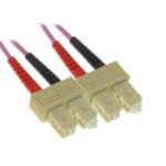 C2G SC/SC OM4 1m 1m SC SC Violet fiber optic cable