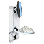 "Ergotron StyleView Vertical Lift, Patient Room 24"" White flat panel wall mount"