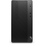 HP 290 G2 8th gen Intel® Core™ i3 i3-8100 4 GB DDR4-SDRAM 256 GB SSD Black Micro Tower PC