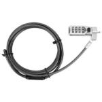"Targus DEFCON cable lock Black,Stainless steel 78.7"" (2 m)"