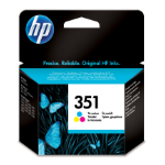 HP 351 Origineel Cyaan, Magenta, Geel 1 stuk(s)
