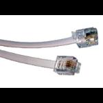 Cables Direct 20m RJ11 Modem Cable Grey
