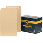 New Guardian Envelopes Heavyweight Pocket Peel and Seal Manilla 381x254mm [Pack 125]