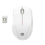 HP X3000 White Wireless Mouse RF Wireless Optical 1200DPI Ambidextrous White mice