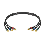 "Black Box RCA/RCA, 15.2-m component (YPbPr) video cable 598.4"" (15.2 m) 3 x RCA"
