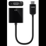 Belkin F2CD058 HDMI VGA (D-Sub) Black video cable adapter