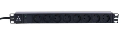Lanview LVR261870D power distribution unit (PDU) 8 AC outlet(s) 1U Black