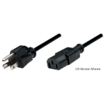 Manhattan Power Cord/Cable, UK 3-pin plug to C13 Female (kettle lead), 1.8m, Black, Polybag