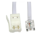 Cables Direct BT-203W telephone cable 2 m White
