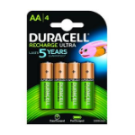 Duracell AA 2400mAh 4 Pack Nickel Metal Hydride 2400mAh 1.2V rechargeable battery