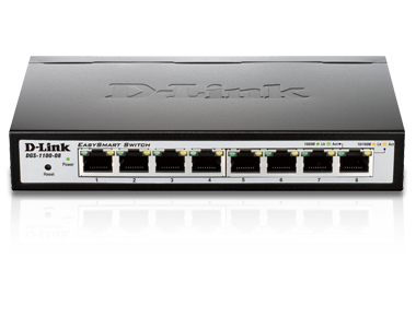 D-Link DGS-1100-08 Managed network switch Black network switch