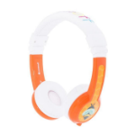 onanoff BuddyPhones Explore Foldable Head-band Binaural Wired Orange, White mobile headset