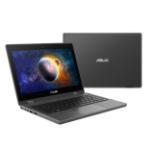 """ASUS BR1100FKA-BP0044RA-3Y notebook Hybrid (2-in-1) 29.5 cm (11.6"""") Touchscreen HD Intel® Celeron® N 4 GB DDR4-SDRAM 64 GB eMMC Wi-Fi 6 (802.11ax) Windows 10 Pro Academic Black, Grey"""