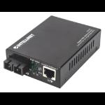 Intellinet 508209 network media converter 1000 Mbit/s Single-mode Black
