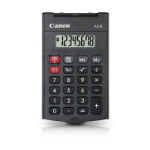 Canon AS-8 calculator Pocket Rekenmachine met display Grijs