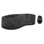 Adesso TruForm Media 1600 - Wireless Ergonomic Keyboard and Optical Mouse WKB-1600CB