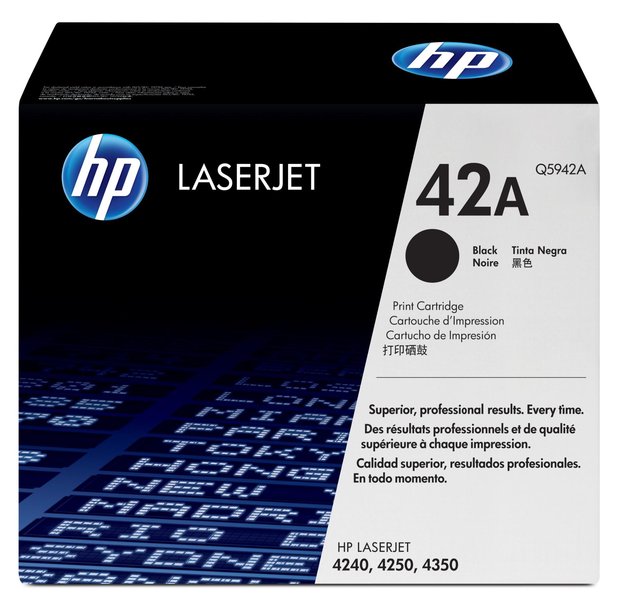HP 42A Origineel Zwart 1 stuk(s)