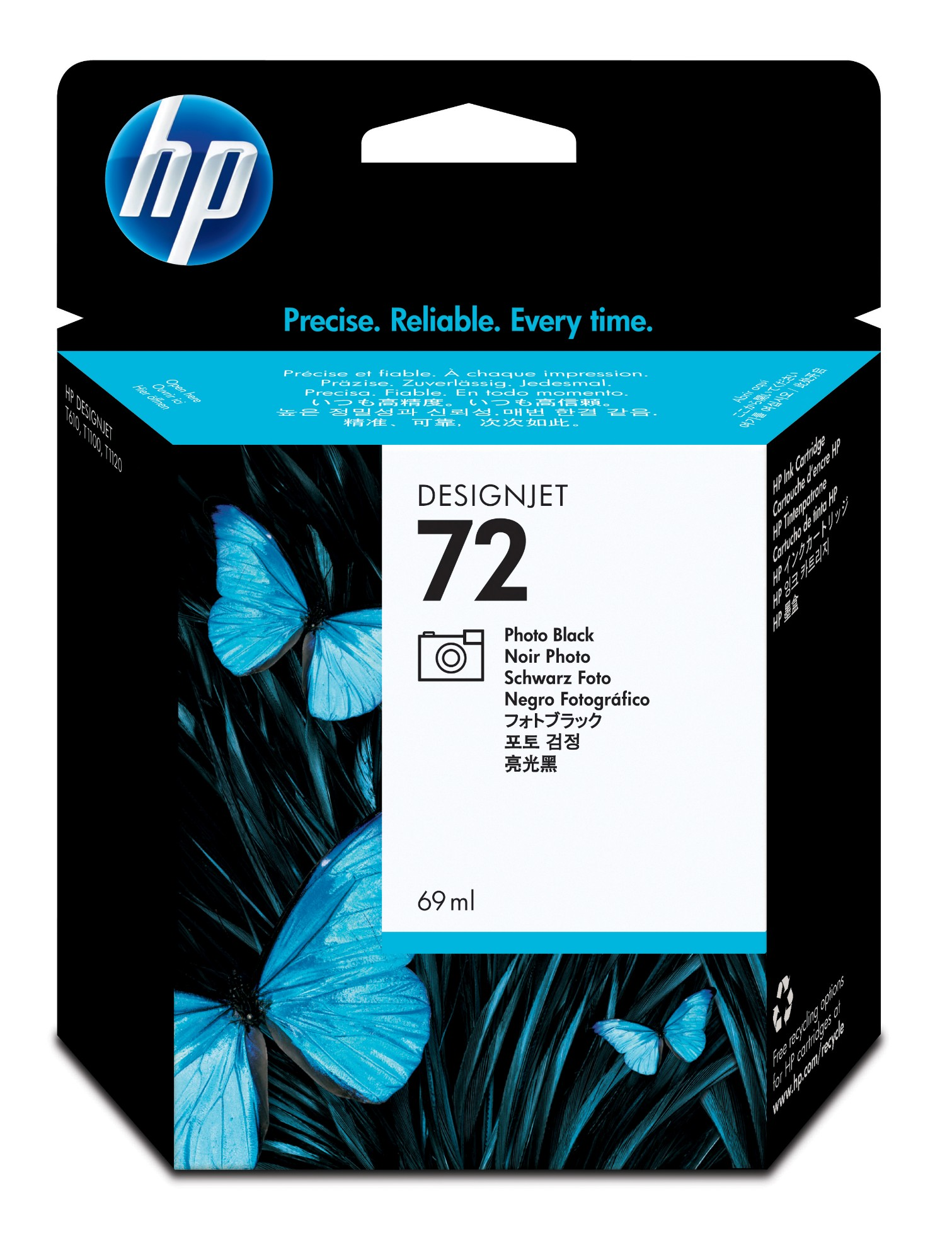 HP 72 inktcartridge Original Foto zwart