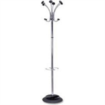 Alba FF ALBA CHROME COAT STAND CHROME/BLACK