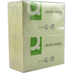 Q-CONNECT Q CONNECT QUICK STICKY NOTE 76X127MM YLW