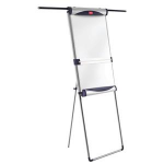 Nobo Classic Steel Foot Bar Magnetic Flipchart Easel with Extending Arms