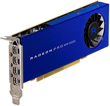 Radeon Pro Wx 4100 4GB Pci-e 3.0 16x 4x M-dp Low Profile Retail