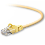"""Belkin RJ45 Cat5e Patch Cable, Snagless Molded, 7.6m networking cable Yellow 299.2"""" (7.6 m)"""