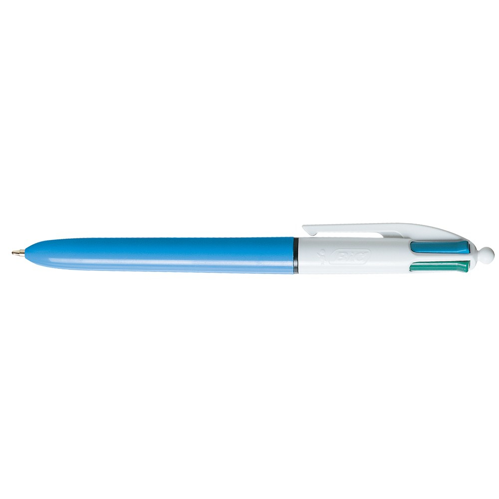 BIC 4 Colours Clip-on retractable ballpoint pen Medium Black,Blue,Green,Red 1pc(s)