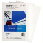GBC LEATHERGRAIN COVERS WHITE PACK 100