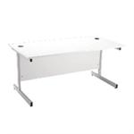 Jemini Rectangular Desk Cant 1400mm White