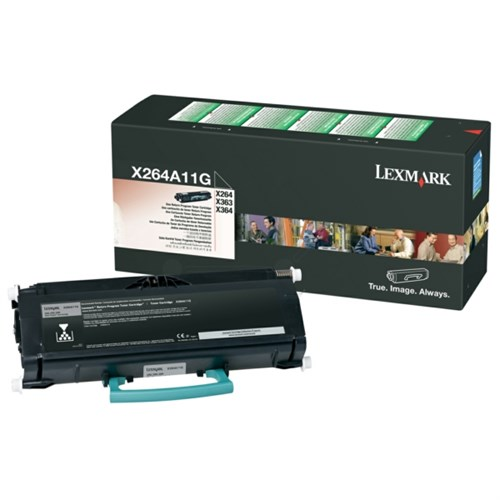 Lexmark X264A11G Toner Cartridge black 35,000 pages