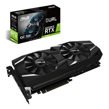 ASUS GeForce RTX 2080 Ti DUAL OC 11GB GDDR6 VR Ready Graphics Card **PRE-ORDER**