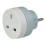 C2G 80810 Indoor Grey, White power adapter/inverter