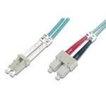FDL 5M OM3 50/125 LC-SC DLX 2.8mm FIBRE OPTIC CABLE - AQUA