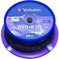 DVD+r Media 8.5GB 8x Double Layer Matt Silver Spindle 25-pk