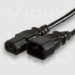 Videk IEC M to IEC F Mains 3m power cable Black